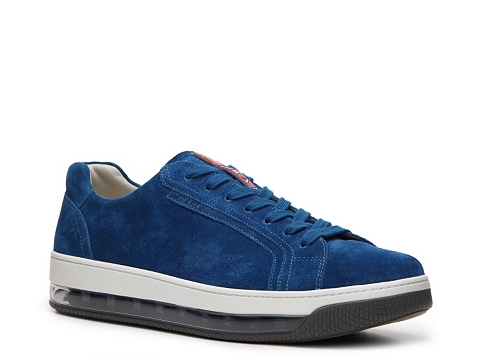 Incaltaminte Barbati Prada Suede Transparent Air Sole Sneaker Cobalt Blue