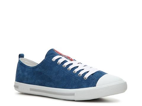 Incaltaminte Barbati Prada Suede Cap Toe Sneaker Light blue