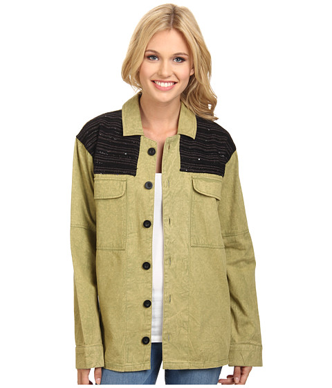 Imbracaminte Femei Volcom Glam Slam LS Shirt Jacket Fern