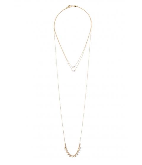 Imbracaminte Femei Forever21 Faux Stone Necklace Set Goldclear