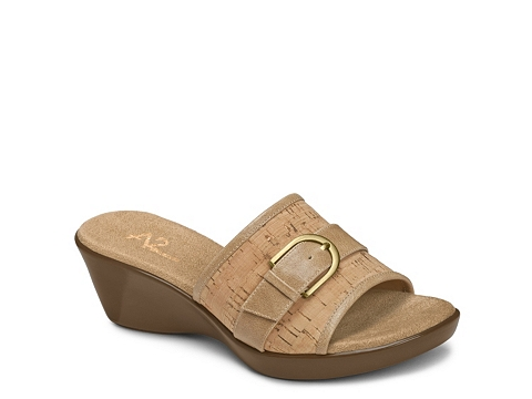 Incaltaminte Femei A2 Eyes On You Cork Wedge Sandal Tan