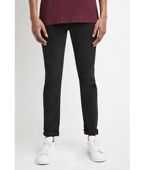 Imbracaminte Barbati Forever21 Clean Wash - Slim Fit Jeans Black