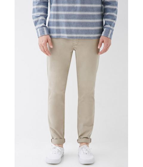 Imbracaminte Barbati Forever21 Clean Wash - Slim Fit Jeans Khaki