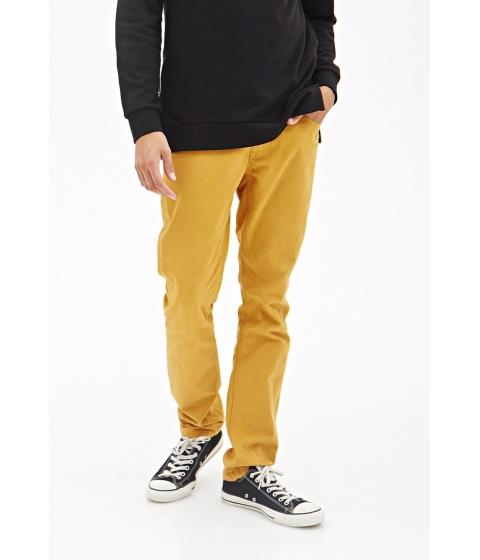 Imbracaminte Barbati Forever21 Clean Wash - Slim Fit Jeans Mustard