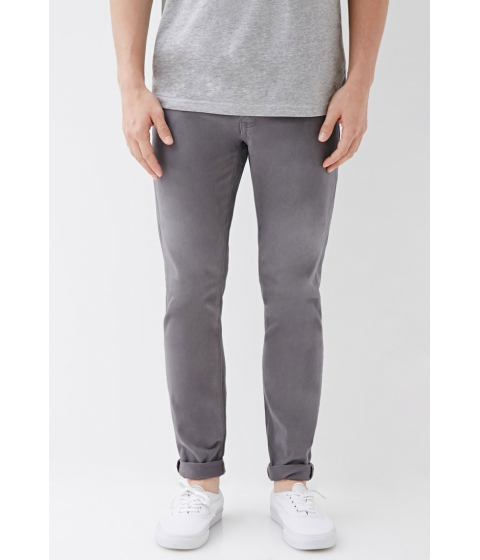 Imbracaminte Barbati Forever21 Clean Wash - Slim Fit Jeans Grey