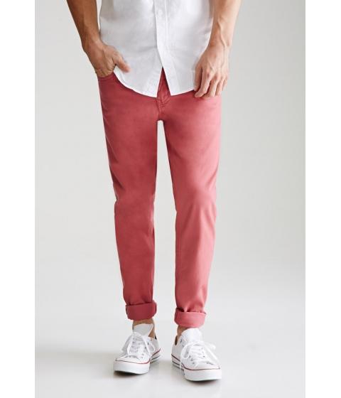 Imbracaminte Barbati Forever21 Clean Wash - Slim Fit Jeans Mauve