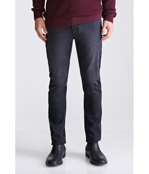 Imbracaminte Barbati Forever21 Dark Wash - Slim Fit Jeans Black