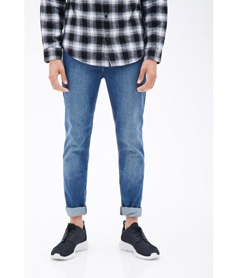 Imbracaminte Barbati Forever21 Medium Wash - Slim Fit Jeans Indigo