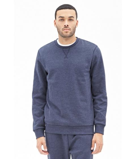 Imbracaminte Barbati Forever21 Classic Crew Neck Sweatshirt Navy