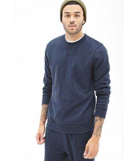 Imbracaminte Barbati Forever21 Classic Crew Neck Sweatshirt Blue