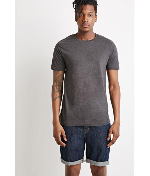 Imbracaminte Barbati Forever21 Classic Heathered Tee Charcoal heather