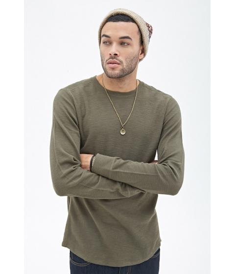 Imbracaminte Barbati Forever21 Ribbed Knit Thermal Olive