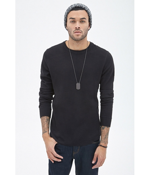 Imbracaminte Barbati Forever21 Ribbed Knit Thermal Black