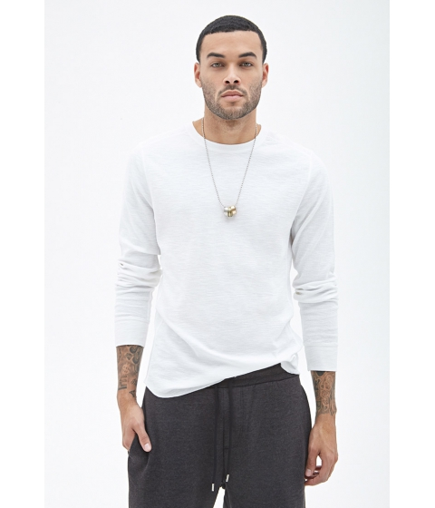 Imbracaminte Barbati Forever21 Ribbed Knit Thermal White