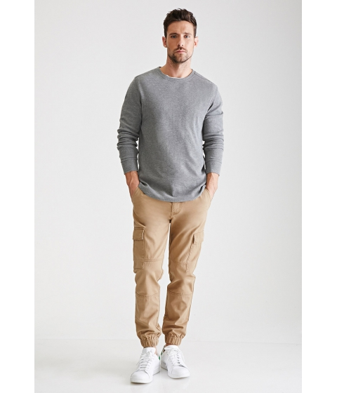 Imbracaminte Barbati Forever21 Ribbed Knit Thermal Heather grey