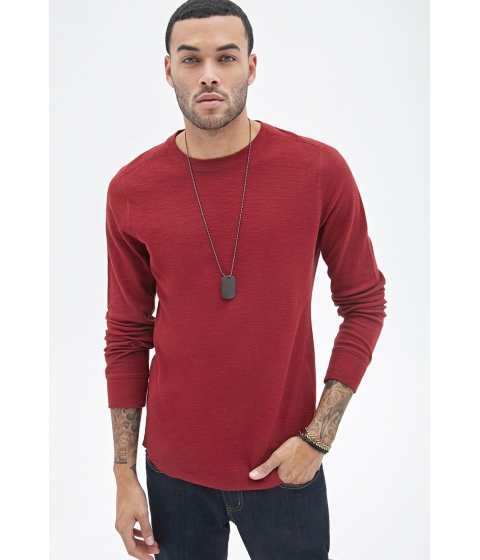 Imbracaminte Barbati Forever21 Ribbed Knit Thermal Red