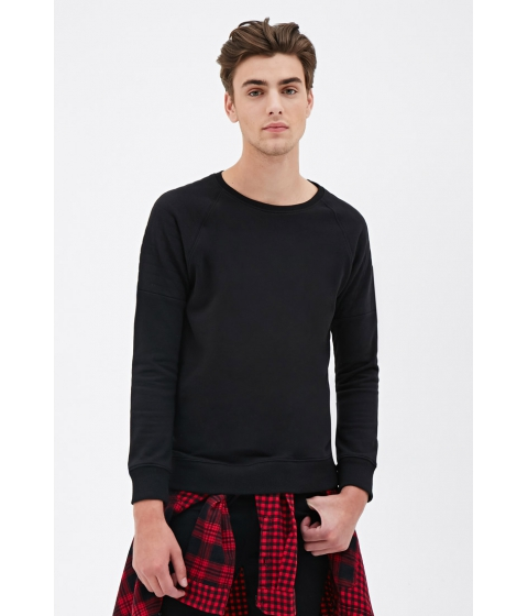 Imbracaminte Barbati Forever21 Quilted Raglan Sweatshirt Black