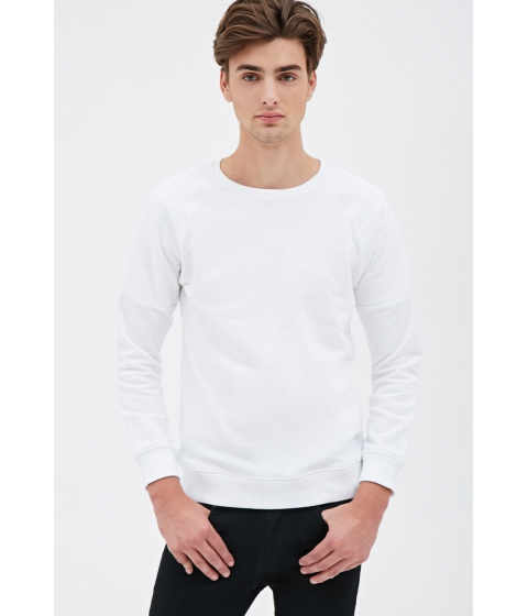 Imbracaminte Barbati Forever21 Quilted Raglan Sweatshirt White