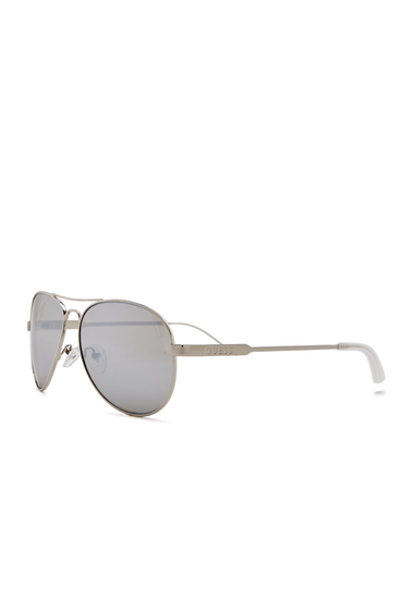 Ochelari Femei GUESS Womens Flash Lens Aviator Sunglasses SI-3F SILV