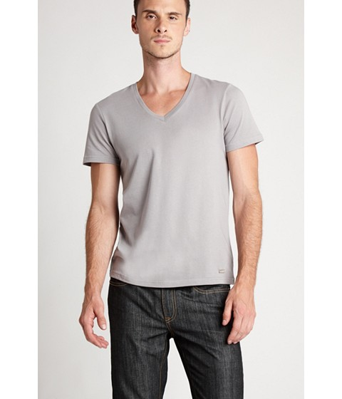 Imbracaminte Barbati GUESS Qualified V-Neck Tee frost grey