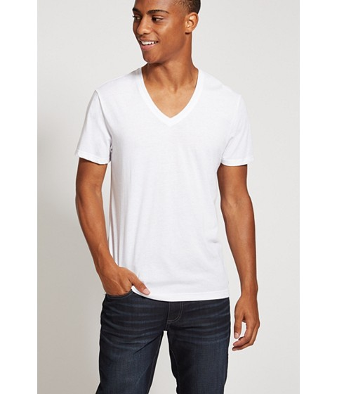 Imbracaminte Barbati GUESS Qualified V-Neck Tee true white