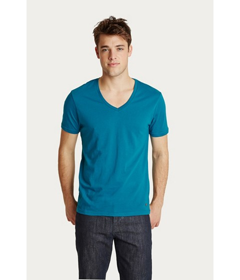 Imbracaminte Barbati GUESS Qualified V-Neck Tee new lagoon