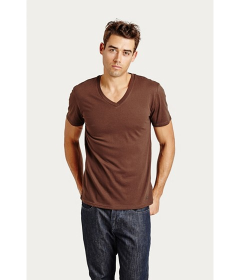 Imbracaminte Barbati GUESS Qualified V-Neck Tee brown suede