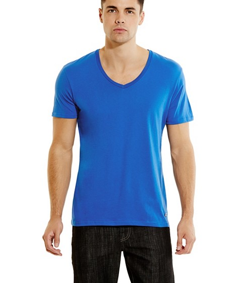 Imbracaminte Barbati GUESS Qualified V-Neck Tee olympian blue