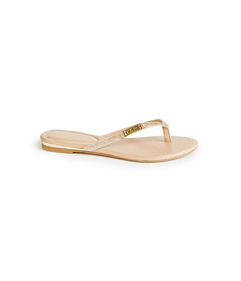 Incaltaminte Femei GUESS Kassie Thong Sandals gold