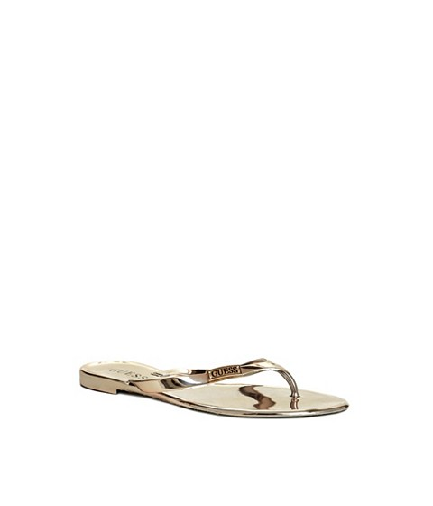 Incaltaminte Femei GUESS Kassie Thong Sandals beeswax