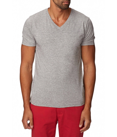 Imbracaminte Barbati Forever21 Heathered V-Neck Tee Heather grey