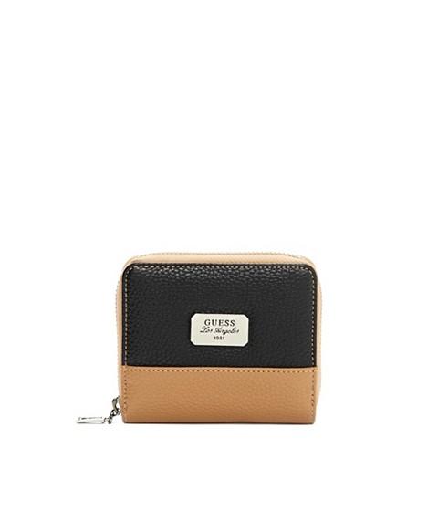 Genti Femei GUESS Greenville Color-Blocked Zip-Around Wallet black multi
