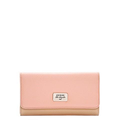 Genti Femei GUESS Greenville Color-Blocked Slim Wallet blush multi