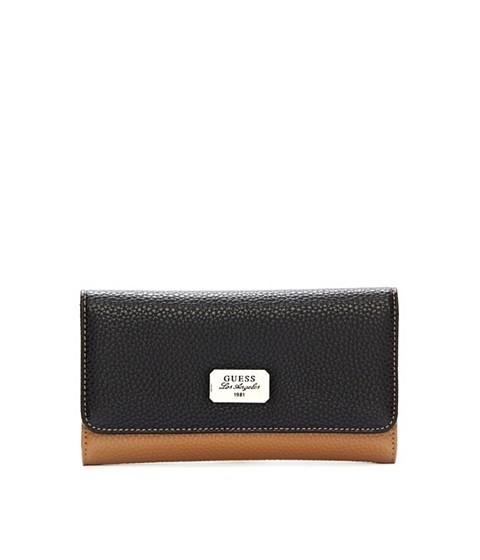 Genti Femei GUESS Greenville Color-Blocked Slim Wallet black multi