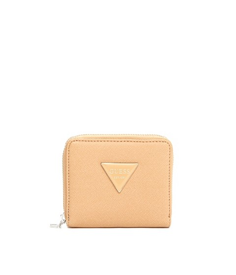 Accesorii Femei GUESS Abree Small Zip-Around Wallet tan