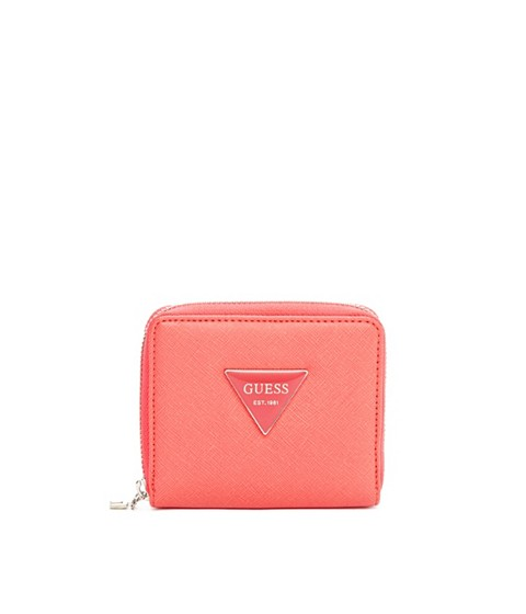 Accesorii Femei GUESS Abree Small Zip-Around Wallet coral