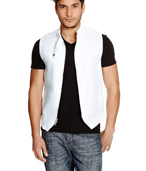 Imbracaminte Barbati GUESS Akua Zip Vest true white