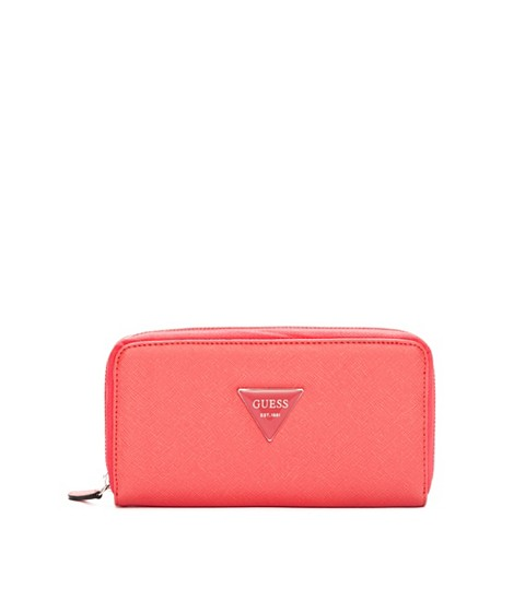 Genti Femei GUESS Abree Zip-Around coral
