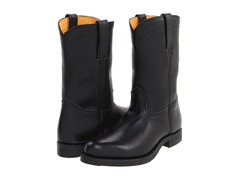 Incaltaminte Barbati Frye Roper 10 R Black Pebbled Full Grain