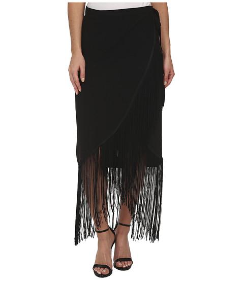 Imbracaminte Femei Sam Edelman Fringe Wrap Skirt Black