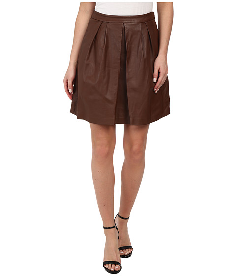Imbracaminte Femei Michael Kors Leather Pleat Skirt Luggage