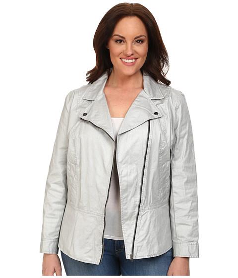 Imbracaminte Femei DKNY Plus Size Coated Twill Biker Jacket Silver