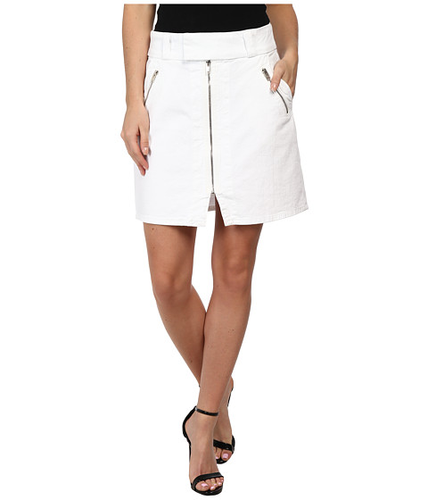 Imbracaminte Femei 7 For All Mankind A-Line Skirt w Exposed Zips in White Fashion White Fashion