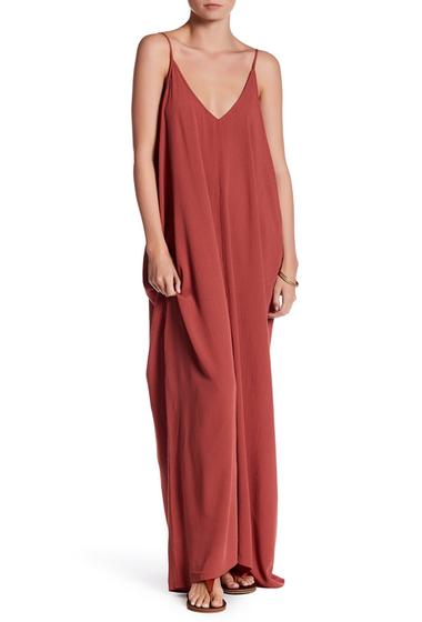 Imbracaminte Femei Love Stitch Gauze Maxi Dress DUSTY BRICK