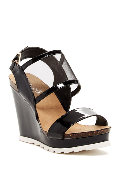 Incaltaminte Femei Bucco Tapune Wedge Sandal Black