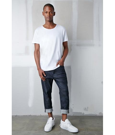 Imbracaminte Barbati Forever21 The New Standard Edition Wayne Selvage Jeans Indigo