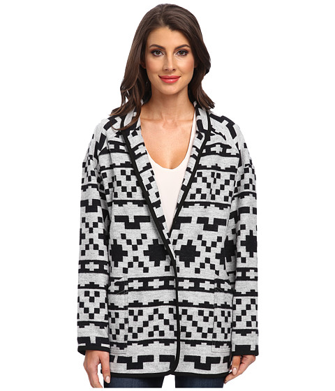 Imbracaminte Femei Karen Kane Cozy Travel Jacket White w Black