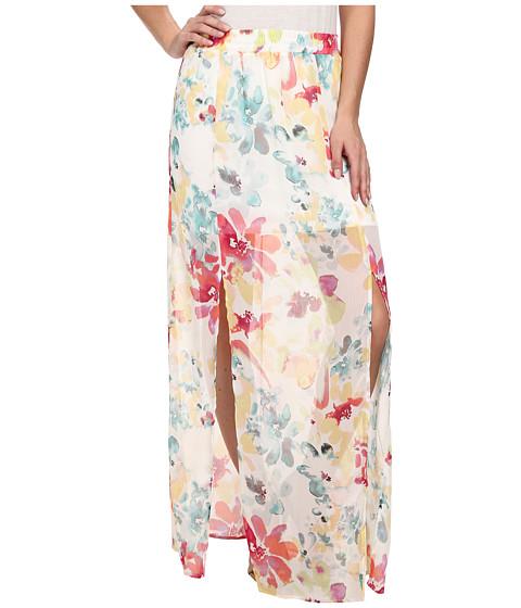 Imbracaminte Femei BB Dakota Vasco Watercolor Print Skirt Ivory