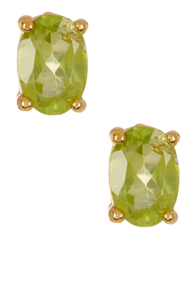 Bijuterii Femei Savvy Cie 14K Gold Plated Sterling Silver Green Peridot Stud Earrings No Color
