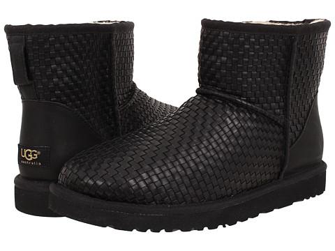 Incaltaminte Barbati UGG Classic Mini Woven Black Leather